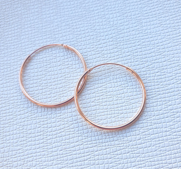 Rosegold Plated Hoop Earrings