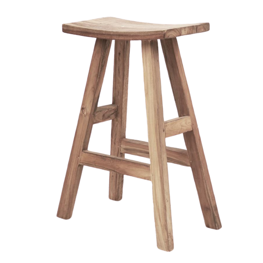 Sena Rustic Timber Bar Stool