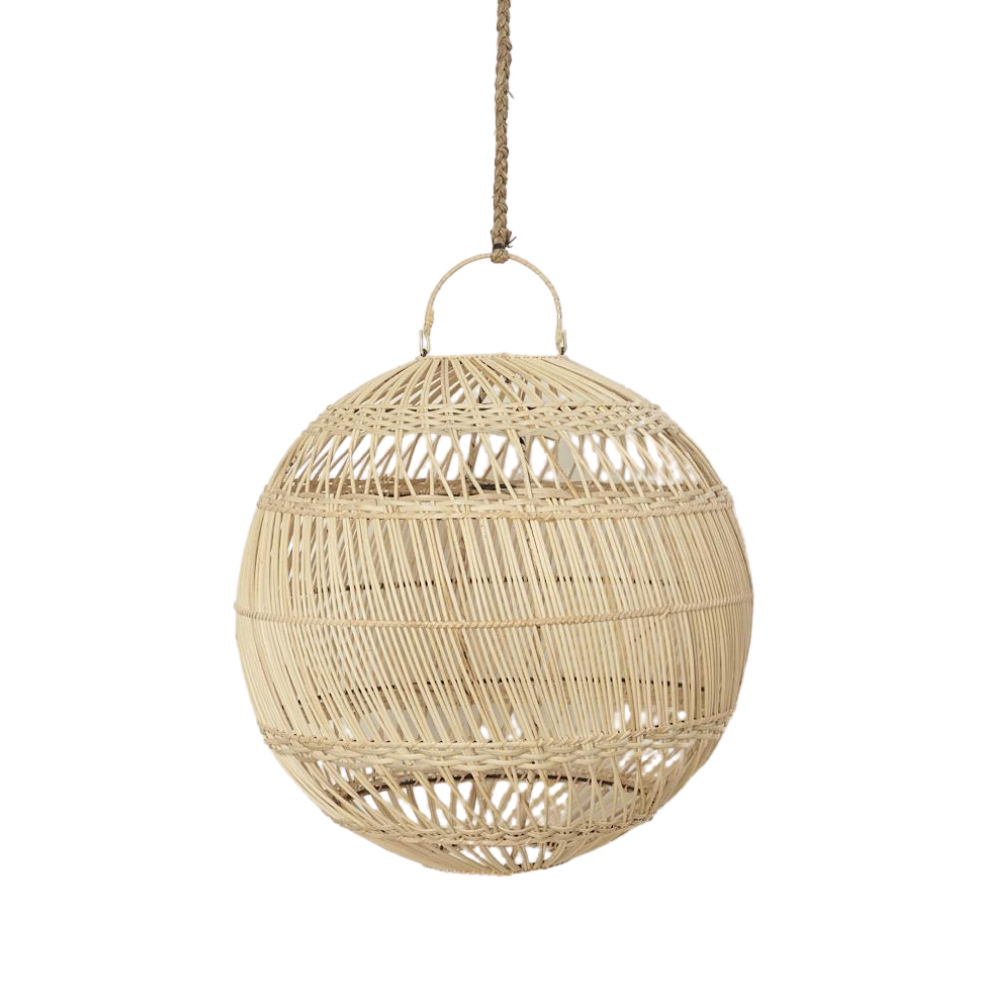 Rattan Ball light shade | The Boholuxe Home