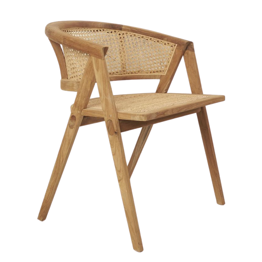 Amalia Rattan Rounded Dining Chair. The Boholuxe Home