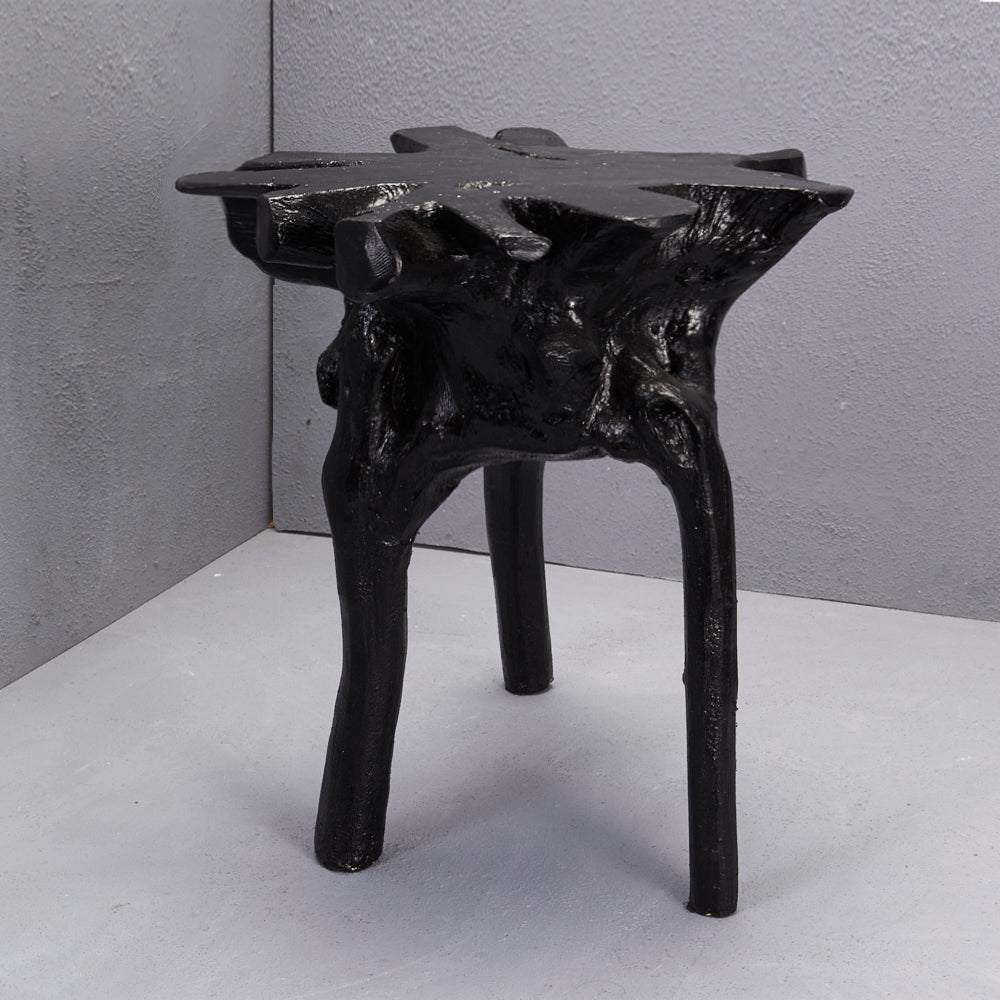 Elif Tree Root Stool Black