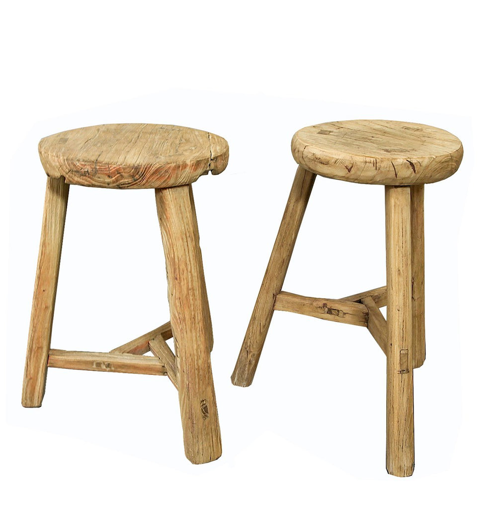 Rustic low stool