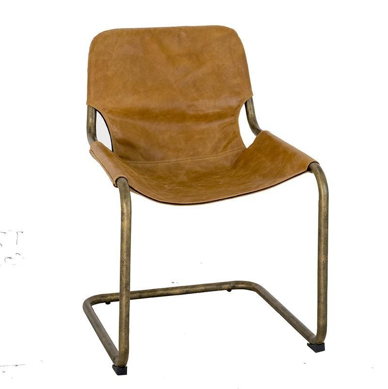 Noemi Leather Dining Chair | Cognac