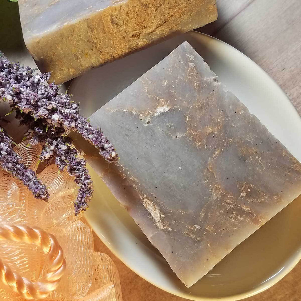 Amethyst and Gold Love Handmade Soap