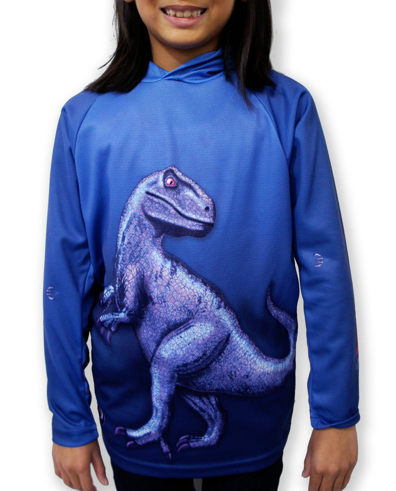 RAPTOR-IN-BLUE Hoodie Sport Shirt by MOUTHMAN®