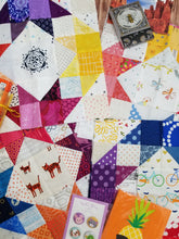 Load image into Gallery viewer, Corner Stars Quilt PDF Pattern