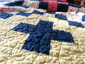 """Vintage"" Giant Granny Square - Twin Size Quilt"