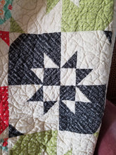 "Load image into Gallery viewer, ""Disappearing Hourglass"" - Throw Quilt"