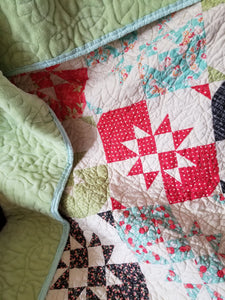 """Disappearing Hourglass"" - Throw Quilt"