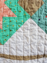 "Load image into Gallery viewer, ""North Star"" - Feminine Baby Quilt"