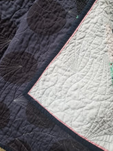 "Load image into Gallery viewer, ""Square Dance"" - Feminine Twin Quilt"