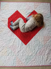 "Load image into Gallery viewer, ""Big Love"" - Heart Throw Quilt"