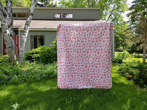 """Chamomile"" - Feminine, Low Volume, Twin Quilt"