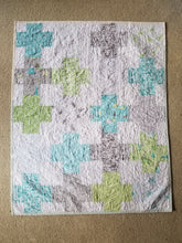 "Load image into Gallery viewer, ""Layer Cake Lattice"" - Modern Plus Quilt, Toddler"