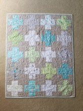 "Load image into Gallery viewer, ""Layer Cake Lattice"" - Plus Quilt, Toddler"
