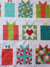 "Load image into Gallery viewer, ""Handmade With Love"" - Christmas Present, Full Quilt"