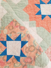 "Load image into Gallery viewer, ""Vintage Tiles"" Quilt - Feminine Baby Quilt"
