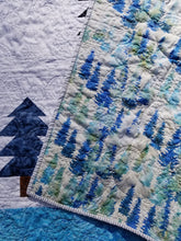 "Load image into Gallery viewer, ""Twilight Forest"" - Throw Quilt"