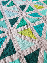 "Load image into Gallery viewer, ""Beautifully Broken"" - Modern Throw Quilt"
