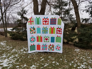 """Handmade With Love"" - Christmas Present, Full Quilt"