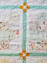 "Load image into Gallery viewer, ""Chamomile"" Quilt - Modern, Low Volume, Feminine, Twin Quilt"