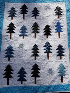 """Twilight Forest"" - Throw Quilt"