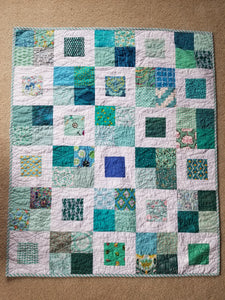 """Charming Frames"" - Throw Quilt"