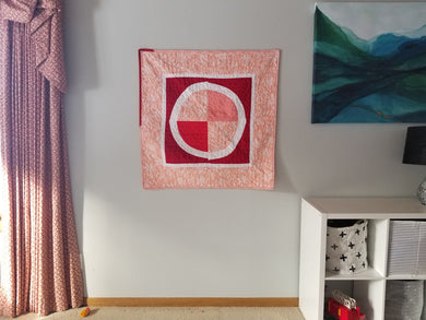 Modern Improv Circle, Baby Quilt