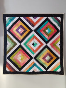 """Conservatory"" - Rainbow Throw Quilt"