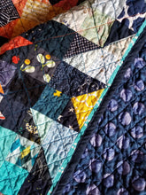 "Load image into Gallery viewer, ""Flight of the Bumblebees"" - Baby Quilt"