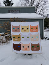 "Load image into Gallery viewer, ""Fat Cat"" - Throw Quilt"