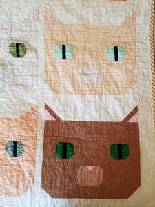 """Fat Cat"" - Throw Quilt"