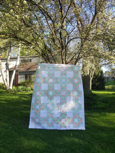 """Meadowland"" - Floral Twin Quilt"
