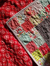 "Load image into Gallery viewer, ""Wonderful"" Holiday Throw Quilt"