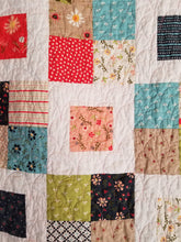 "Load image into Gallery viewer, ""Charming Frames"" - Floral Toddler Quilt"