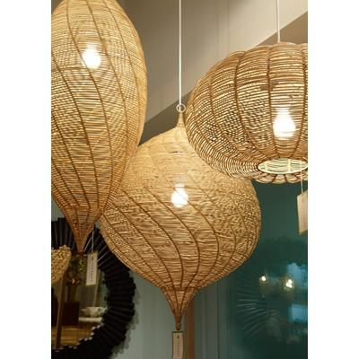Selamat Designs Calabash Hanging Pendant, Small - Natural - Heaven's Gate Home & Garden