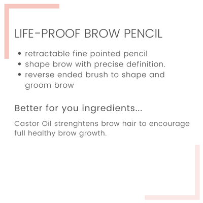 Life-Proof Eyebrow Pencil with Castor Oil