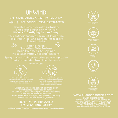 Unwind Clarifying Green Tea + Tea Tree Serum Spray