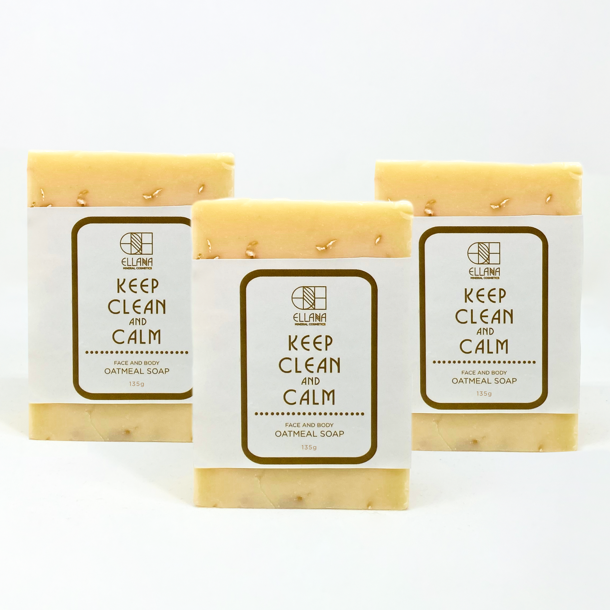 Keep Clean and Calm Face and Body Oatmeal Soap - Pack of 3