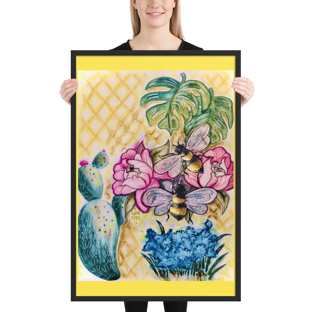 Bee Happy 2 Framed poster