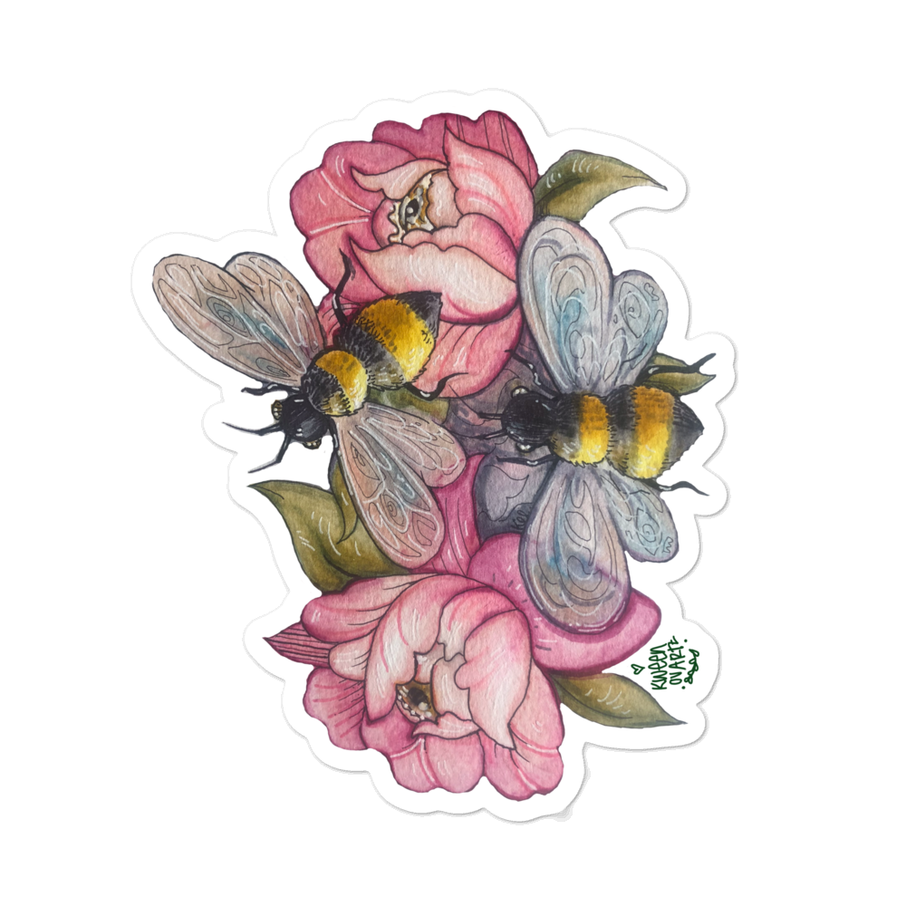 Bee Happy stickers