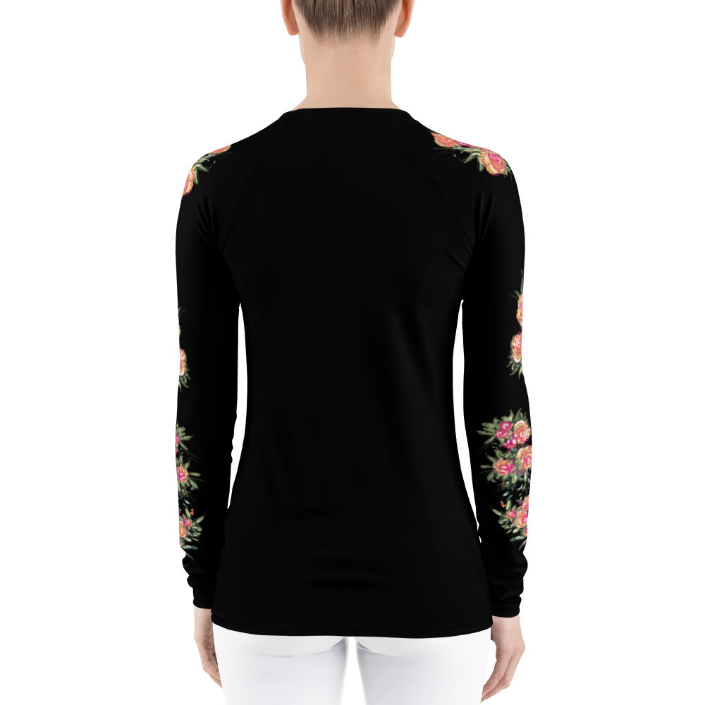 Flora Print Athleisure Long Sleeve