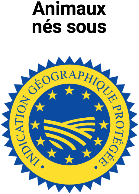 logo label animal né sous igp