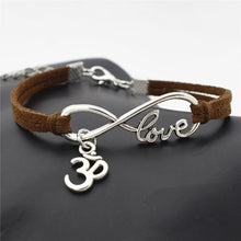 Load image into Gallery viewer, Handmade Jewelry OM Leather Bracelets
