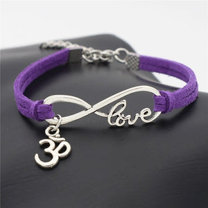 Handmade Jewelry OM Leather Bracelets