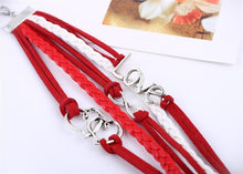 Load image into Gallery viewer, Handmade Love Charm Leather Bracelet