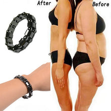 Load image into Gallery viewer, Weight Loss Black Stone Magnetic Therapy Bracelet