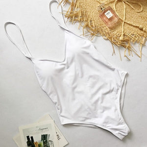 Summer Swimwear Women Sling Backless One Piece Slim