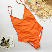 Load image into Gallery viewer, Summer Swimwear Women Sling Backless One Piece Slim