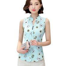 Load image into Gallery viewer, EFINNY Summer Women V-Neck Fashion Women Blouse